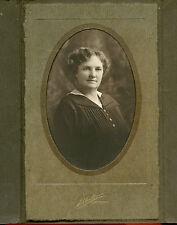Antique Photo in Folder - Close Up Lady W/Curly Hair, Yakima, Washington