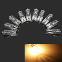 10Pcs G9 25W Halogen Bulbs Warm White Light Capsule Lamp Replacement 230V