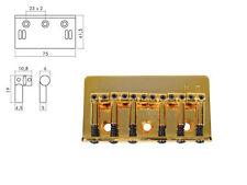 Ponte bridge fisso per chitarra elettrica dorato gold Boston b-1500-g