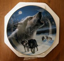"NIB Bradford Exchange Wolf Plate ""Midnight Harmony"" w/COA"