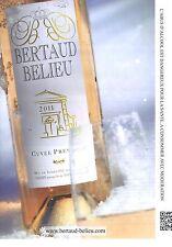 PUBLICITE ADVERTISING  2012  BERTAUD BELIEU vin cuvée prestige