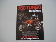 advertising Pubblicità 1983 KAWASAKI 750 TURBO INIEZION