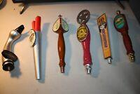 Vintage collection various beer tap handles lot  6, Victory, Sierra Nevada etc.