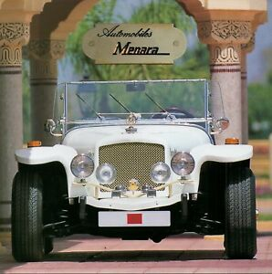 Manera II car & replica car range (made in Marocco) _1998 Prospekt / Brochure