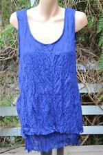 Autograph Size 16 Blue Lace Layered Top. Round Neck. Sleeveless