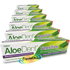 6x Optima Aloe Dent Aloe Vera Sensitive Toothpaste 100ml Fluoride Free