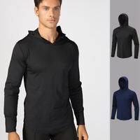 Men's Sports Hoodie Hooded Running Basketball Gym Sweatshirt Tops Long Sleeve