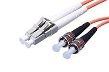 2M LC to ST Multimode 3mm 50/125 Duplex Fiber Optic Cable - New 12393-2M