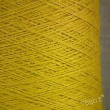 GORGEOUS SOFT 100% PURE BABY ALPACA YARN 250g CONE 5 BALLS YELLOW WOOL KNITTING