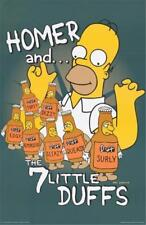 The Simpsons Homer Simpson 7 Little Duffs 1998 Poster 23x35