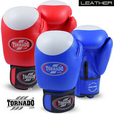 Leather Boxing Gloves MMA Punch Bag Sparring Muay Thai Fight Training All Sizes