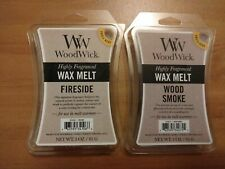 2 Pack WOODWICK Wax Melts WOOD SMOKE + FIRESIDE Scent Free Shipping
