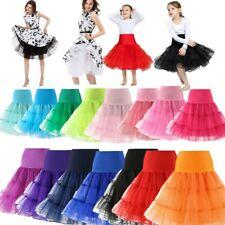 Mädchen Damen 50/60Jahre tüllrock Vintage Rockabilly Dirndl Petticoat Unterrock