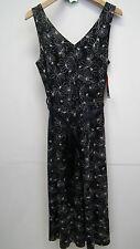 BNWT Satsuma London Black and White Floral Linen Dress Size10