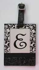 g E INITIAL LUGGAGE TAG bag ID suitcase vegan letter NWT travel accessory ganz