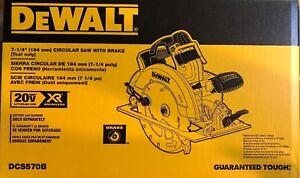 Dewalt DCS570B 7 1/4 Cordless Circular Saw w Brake 20 volt  Brushless Bare  New