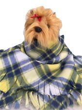 YELLOW BLUE PLAID,Fuzee Fleece Dog Blankets,Soft Pet Blanket Travel Throw Cover