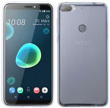 HTC DESIRE 12+ (PLUS) // Schale Handyhülle Tasche Silikonschutz Gel Frosted
