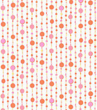 Candice Olson Kids Sparkle Beaded Curtain in Orange & Pink Wallpaper CK7756