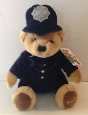 Vintage Harrods Police Teddy Bear Plush Toy With Tags