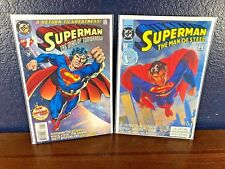 2 Comic Lot SUPERMAN THE MAN OF STEEL TOMORROW #1 1st Issue (1991, 1995) DC 1 NM