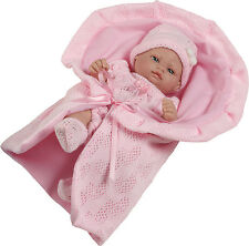 Berbesa - Mini recién nacido vestido rosa, toquilla  27 cm. Caja.(2502R)