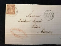 Schweiz - Brief Stück Stempel 1875 Chaux-de-Fond Sitzende Helvetia 5 C   Nr.22