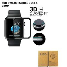 FULL 3D CURVED EDGE TEMPERED GLASS PROTECTOR For Apple Watch Series 1/2/3 38mm