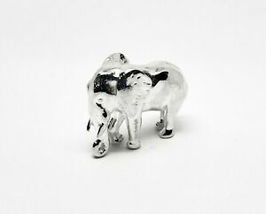 English Made Hallmarked Sterling Silver Elephant Model Figure