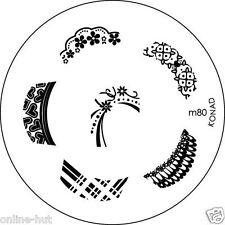 Originale Konad stamping stencil per stamping VERNICE m80