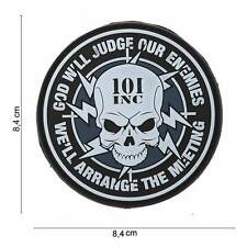3D PVC 101 Inc God Will Judge Punisher Skull Army Tactical Airsoft Morale Patch