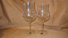 Vintage Crystal Wine Glasses 1 Large 1 Med Sangria Glasses West Virginia Glass