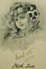 1904 Art Series 1777 Girl Raphael Tuck & Sons Postcard Produced in Berlin A3