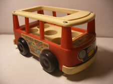 Vintage 1969 Fisher Price little people Play Family mini Bus Van