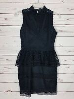 Lulus Boutique Women's XS Extra Small Black Lace Sleeveless Spring Summer Dress