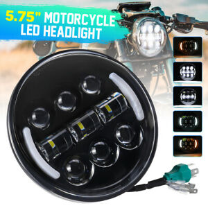 5.75'' Motorcycle LED Projector Headlight DRL Turn Signal Lamp Seal Universal AU