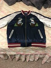 Standard Issue Unisex Blue/Silver Souvenir Jacket Size Large