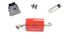 Evolution Powersports Evo Stage 5 ECU Flash Red Magnum Exhaust RZR XP TURBO