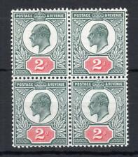 EDWARD VII 2d MINT BLOCK OF 4