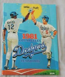 1981 Los Angeles Dodgers Yearbook