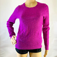J. Crew S Small Shirt Wool Cashmere Blend Soft Cable Knit Sweater Crewneck Pink