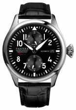 Relojes de pulsera con fecha automática de cuero cocodrilo