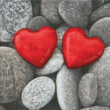 Servietten - Steine der Liebe - Love stones Hochzeit Liebe schenken 20 Stück