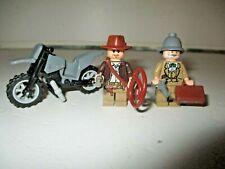Lego - Indiana Jones Minifigures of Indiana Jones & Henry Jones Sr With Extras