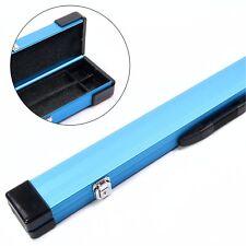 BLUE ALUMINIUM 3/4 Pool Snooker Cue Case - 117cm Max Length