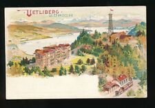 Switzerland UETLIBERG ZURICH railway station c1902 chromo u/b PPC