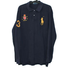 Polo Ralph Lauren Mens XL Embroidered Big Pony Long Sleeve Polo Shirt E431
