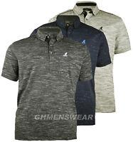 Neuf Hommes Larges Kingsize Kangol Marne T-Shirt Polo Taille 2XL 3XL 4XL 5XL