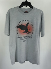 Harley Davidson Gray T-shirt Sz L Eagle Star Graphic Tee Tacoma Washington Large