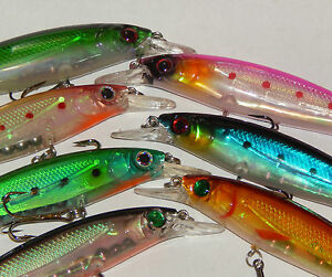 Zander Pike Fishing Lure 110mm Holographic Floating Diving Minnow 11 Colours